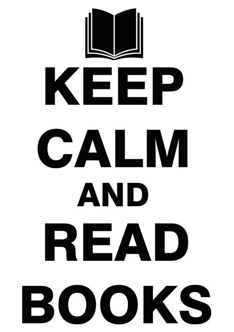 Keep Calm And Read Books Drawing by ES Design