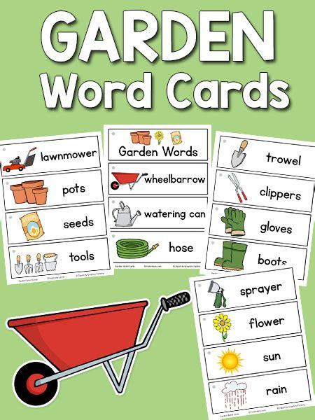garden word cards prekinders