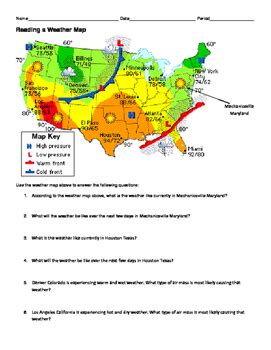 ngss ms hs weather and climate reading a weather map
