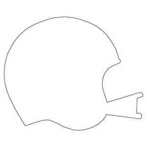 Blank Football Helmet Template
