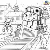 Thomas Coloring Train Friends Colouring Printable Tank Engine Snowman Steam Winter Drawing Frosty James Printables Worksheets Sheets Jefferson Games Topham sketch template
