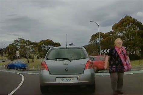 Elderly Woman Stops To Congratulate P Plate Driver For