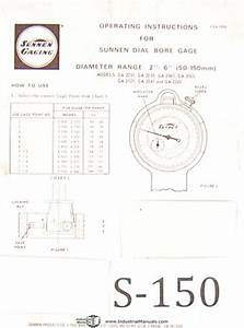 Sunnen Dial Bore Gages  Ga 2000 Series  Operations