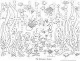Coloring Pages Ocean Sea Waves Under Adults Deep Adult Colouring Printable Sheets Garden Printables Mural Project Version Popular Pdf Underwater sketch template