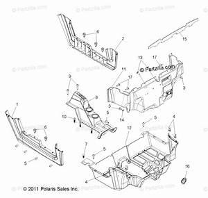 Polaris Side By Side 2016 Oem Parts Diagram For Body  Floor  U0026 Rocker Panels
