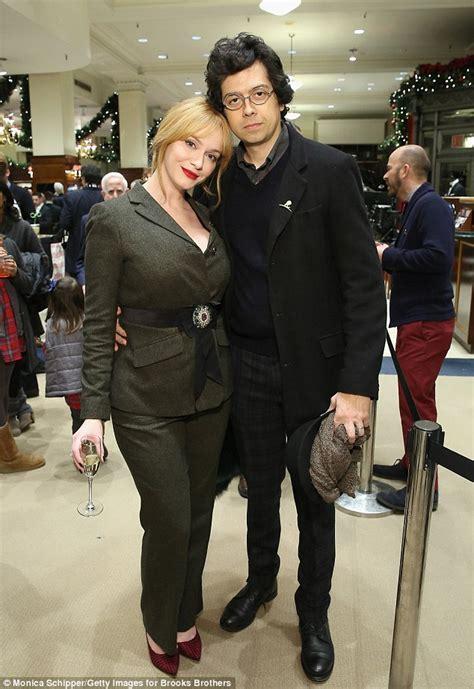 Christina Hendricks cosies up to husband Geoffrey Arend at ...