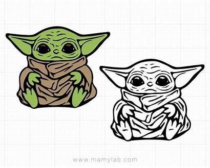 Yoda Silhouette Svg Vector Wars Star Cricut