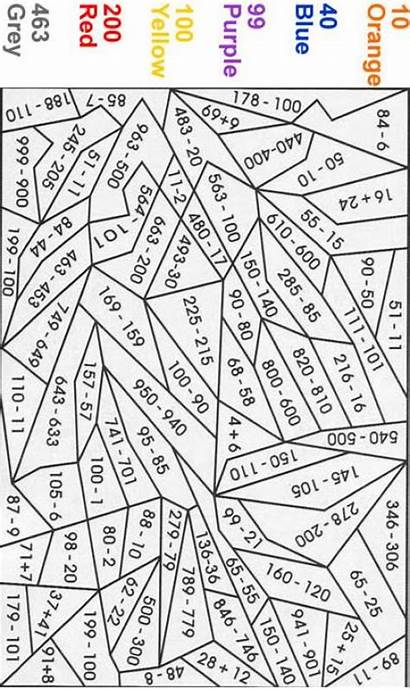 Number Orange Coloring Pages Expert Numbers Math