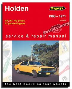Holden Hk Ht Hg - V8 Workshop Service   Repair Manual 1968-71 Book