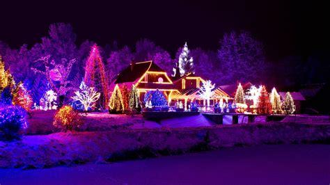 Beautiful Christmas House Night Lights Hd Wallpaper