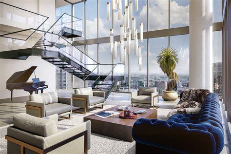 penthouses   built  downtown los