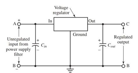 voltage regulator working principle circuit diagram voltage regulator in power supply