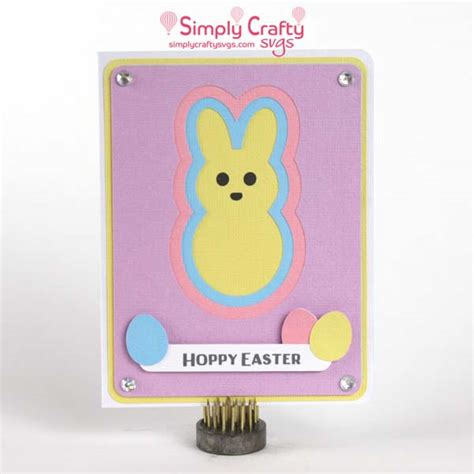 Png file svg file eps file cdr file. Layered Bunny Card SVG File - Simply Crafty SVGs