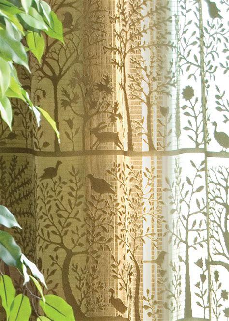 lace curtain valance tree  life  rabbit hollow