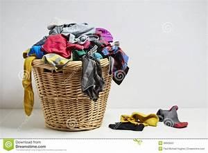 Overflowing Laundry Basket Stock Photo Image 38929522