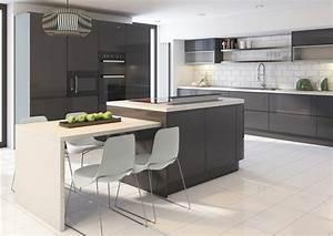 meuble cuisine gris anthracite maison design bahbecom With meuble cuisine gris anthracite