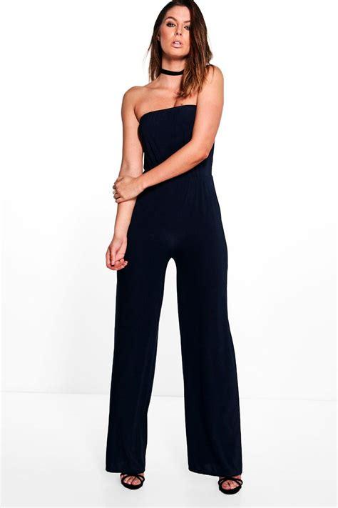 ebay jumpsuit boohoo womens beth strapless wide leg jumpsuit ebay