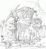 Coloring Tree Pages Fairy Magic Treehouse Printable Sheets Houses Concept Lineart Giant Finished Dreamworks Getcolorings Enchanted Gardens Template sketch template