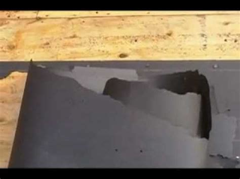 roofing removing tar paper   mess