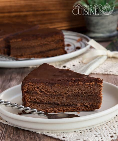 cuisine de gateau sachertorte recette gateau autrichien au chocolat amour