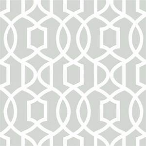 Modern Trellis Peel and Stick Wallpaper, Gray, 4 Rolls ...