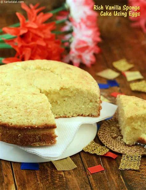 rich vanilla sponge cake  eggs recipe  tarla