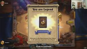 Reaching Legend Rank In Hearthstone For The First Time ...