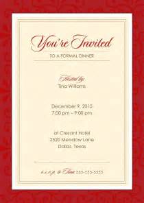 formal dinner party holiday party invitations from cardsdirect