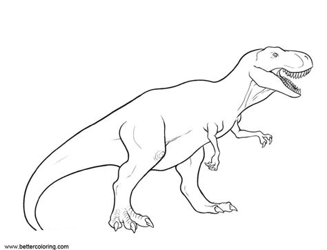 jurassic world fallen kingdom coloring pages  rex