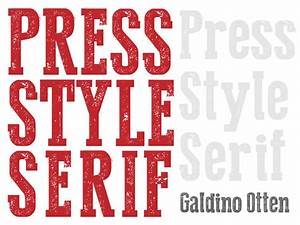 press style serif font images With press type lettering
