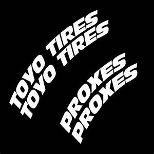 toyo tire letters With toyo proxes white lettering