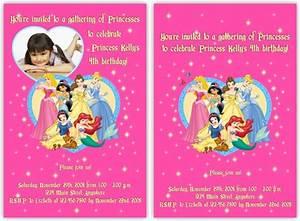 Disney princess birthday invitations template best for Free printable disney wedding invitations templates