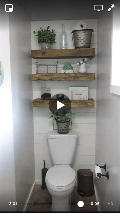 diy shiplap wall  floating shelves master bathroom