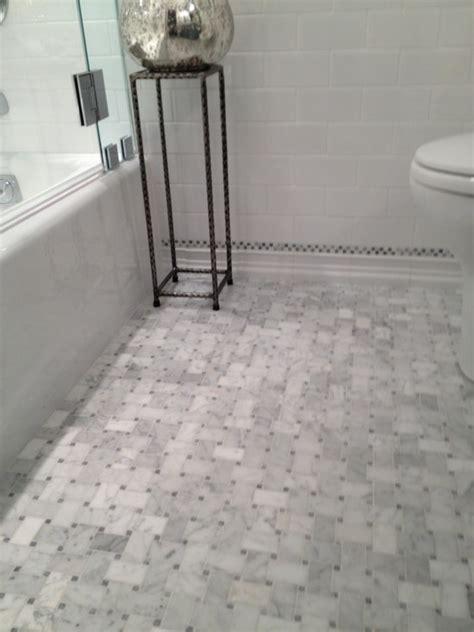 Marble Basketweave Tile  Traditional  Bathroom