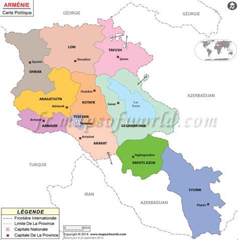 Carte de l'Arménie