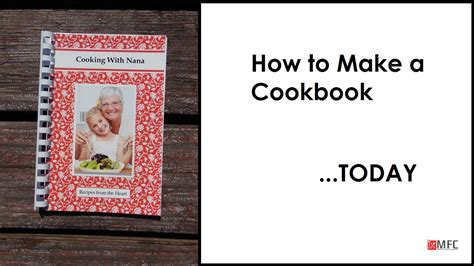 How To Make A Cookbook Of Your Recipes  Youtube