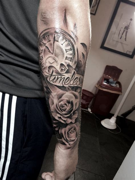 tattoos images  pinterest rose tattoos tattoo ideas  clock tattoos