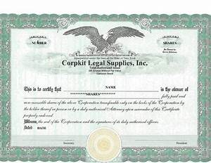 41 Free Stock Certificate Templates  Word  Pdf