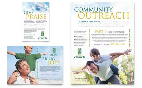 Free Church Brochure Templates by Christian Church Flyer Ad Template Word Publisher