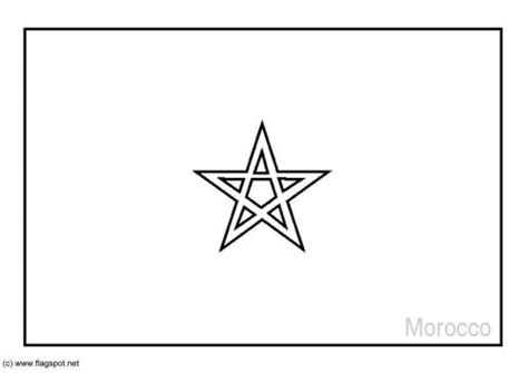 Marokkaanse Vlag Kleurplaat by Coloring Page Flag Morocco And Lots Of Others Coloring