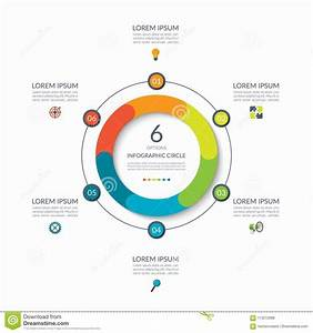Infographic Circle  6 Options  Steps  Parts  Business
