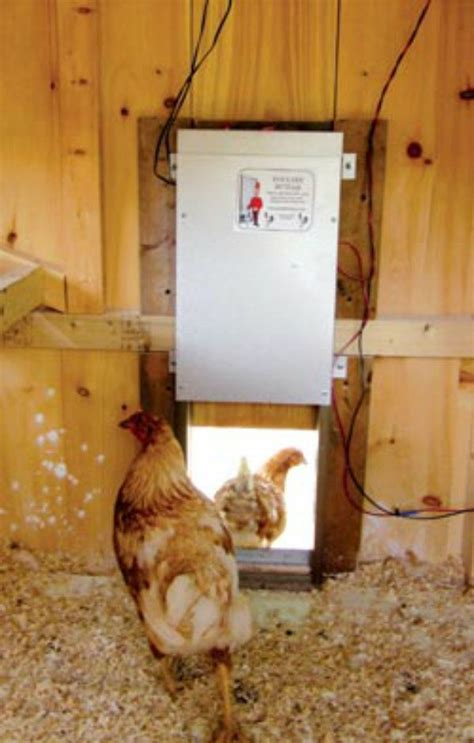 solar powered chicken coop light auto open door etc
