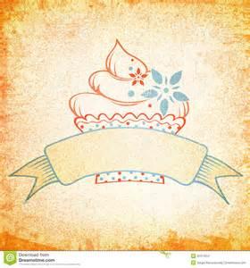 designer vintage cake vintage design stock images image 32317854