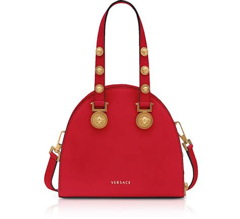 versace red  gold small tribute satchel bag  forzieri