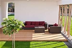 Aménagement Toit Terrasse : l 39 am nagement de terrasse avec un sol du bois ~ Melissatoandfro.com Idées de Décoration