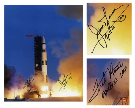 Lot Detail - Apollo 13 Astronauts Fred Haise and Jim ...