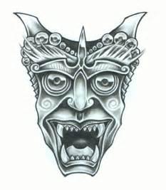 Japanese Demon Tattoo Stencils