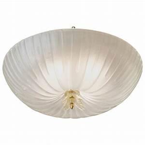 Italian murano glass fluted dome flush mount ceiling