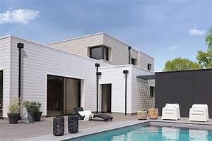 bardage maison moderne maison moderne toit terrasse With google vue des maisons 6 maison contemporaine avec bardage en bois noir