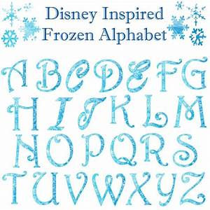 Frozen Winter Christmas Snowflake Alphabet by ...